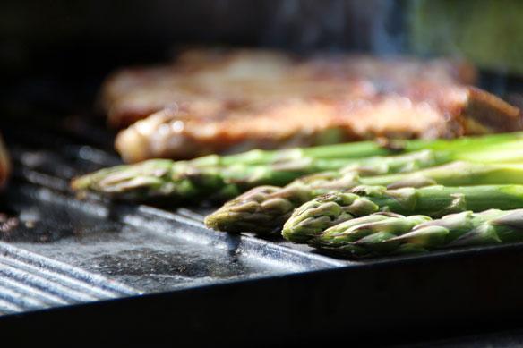 Asparagus, Mushroom Bruschetta