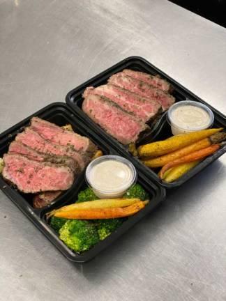 Sliced beef dinner